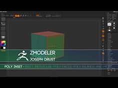 (2) ZBrush ZModeler Polygon Actions - Poly Inset - YouTube Zbrush, Digital Sculpting, Action, Make It Yourself, Education, Youtube, Tutorials, Group Action, Onderwijs
