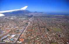 Panorama from aircraft Cap Town, Table Mountain Cape Town, Pretoria, Airplane View, South Africa, City Photo, Images, Circuit, Aircraft