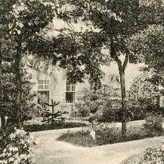 A soproni Szt. orsolya rendiek intézete: kertrészlet
