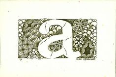 Enthusiastic Artist: Zentangle inspired letters
