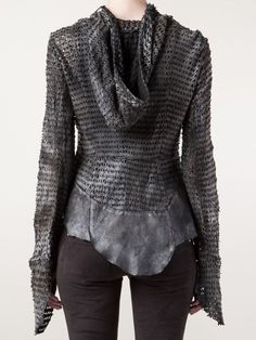 Le Cuir Perdu Perforated Cut Out Jacket - The Parliament - Farfetch.com
