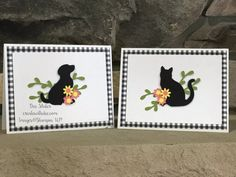 Dog & Cat Silhouette by Dee S. - Cards and Paper Crafts at Splitcoaststampers Dog Cat Tattoo, Dog Cards Handmade, Pet Sympathy Cards, Greeting Cards, Gatos Cats, Cat Cards, Cards Diy, Cat Silhouette, Stamping Up Cards