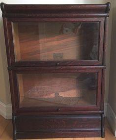 Rare 3/4 Size Globe Wernicke Quartersawn Oak Barrister Bookcase Grade 299 D