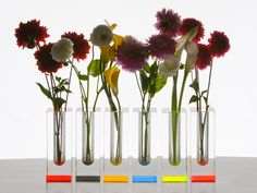 Flowers get modern in these modular bud vases crafted from fine acrylic for a sleek and luxurious look.