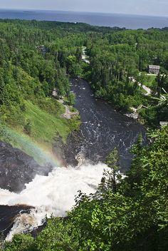 Val Jalbert waterfall in Quebec, ( En souvenir des livres de Bernadette dupuis), c'est magnifique!