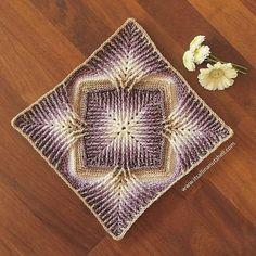 Part 2 of #ElementsCAL is just as beautiful as part 1. My yarn in @scheepjes #StoneWashed and the design in by @sandrakuijer . . #crochet #haken #scheepjes #grannysquare #blanket #itsallinanutshell