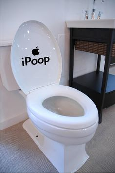 iPoop Toilet Seat Decal / Sticker Wall Mural by signpainterchris, $2.49