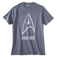 Star Trek Delta Shield Men's Graphic Tee - Blue