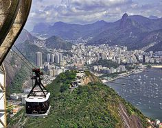 On the way down from the Sugarloaf in Rio de Janeiro.