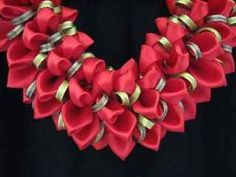 Red ginger ribbon lei
