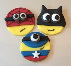 Stall & Craft Collective - 9 x icing Superhero minion cupcake toppers - #5233