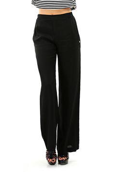 Kocca - Pantaloni - Abbigliamento - Pantaloni in viscosa modello a palazzo con elastico in vita con tasche laterali. - 00016 - € 78.00