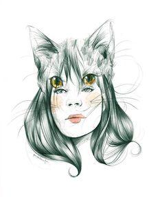 """""""Miaaaauuuuuu"""" Chica felina de Paula Bonet                                                                                                                                                     Más"""