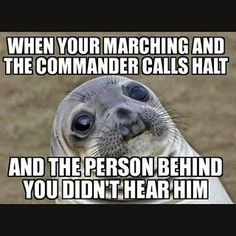 """The pains of being a squad leader """"I worked for two hours on my shoes and now you've scuffed them! Army Life, Military Life, Rotc Memes, Air Force Memes, Inner Me, Inner Peace, Kill Your Friends, Funny Quotes, Funny Memes"""