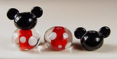 Lampwork Mouse Ear Beads by gardenpathbeads on Etsy, $15.00