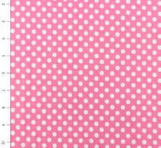 Knit Hot Pink with Small White Dots by Riley Blake Designs