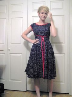 """Butterick walk away dress -- The idea of the """"Walk-away dress"""" was that you could make it in the morning and have something new to wear to your friend's afternoon tea."""