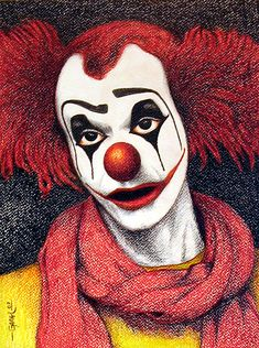 Clown by Jose-Garel-Alvoeiro Circus Art, Circus Clown, Clown Doctors, Clown Images, Pregnant Belly Painting, Clown Paintings, Maquillaje Halloween, Clowning Around, Send In The Clowns