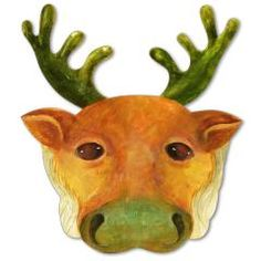 This christmas papercraft is a Reindeer Mask, designed by Canon Papercraft. Try out this fun mask and you, too, can become a reindeer! Halloween Masks Kids, Reindeer Costume, Diy Masque, Paper Art, Paper Crafts, Free Christmas Printables, Mask Party, Reno, Paper Toys