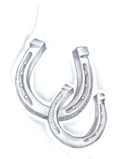 Another possibility if I can convince my moomie to get one... Horseshoe tattoo sketch love this style of horseshoe!