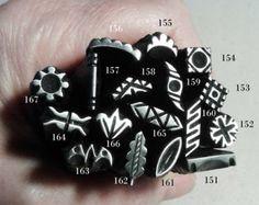 Joyas de sello, sellos de Metal hecho a mano, joyería que hace herramientas, estampado de metal, sello de metalistería, punzón de metal, orfebrería