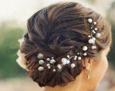 5pcs bridal hair pin ,wedding hair pin,Pearl Hair pins, Bridal hair Clips, Wedding Prom Pageant Bridsmaids on Etsy, $20.00