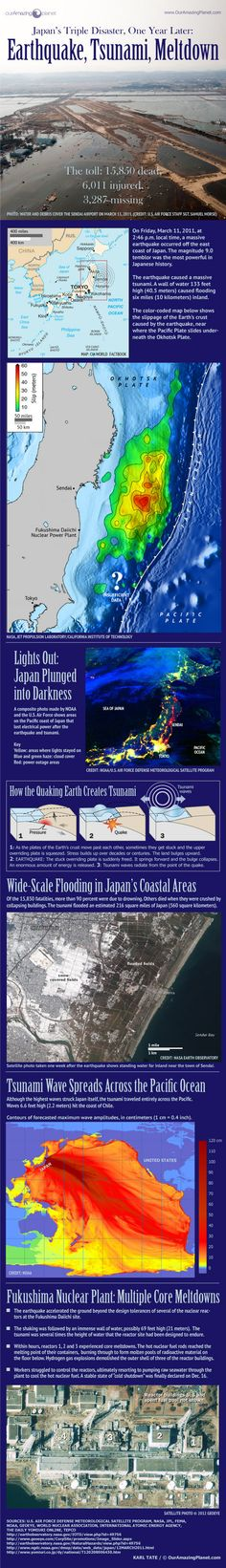 One Year Later: How the Earthquake & Tsunami Devastated Japan (Infographic)