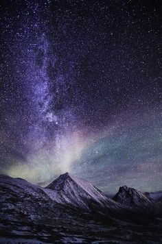 light sky landscape upload night galaxy stars northern lights mountains norway milky way arctic aurora borealis vertical fjord nord tromvik Nordge Beautiful Sky, Beautiful World, Beautiful Norway, Ciel Nocturne, Sky Full Of Stars, Tumblr Wallpaper, Night Sky Wallpaper, Science And Nature, Nature Nature