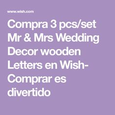 Compra 3 pcs/set Mr & Mrs Wedding Decor wooden Letters en Wish- Comprar es divertido