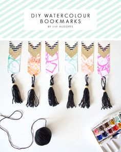 DIY Watercolour Bookmarks