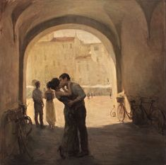 Ron Hicks, The Italian Plaza on ArtStack #ron-hicks #art