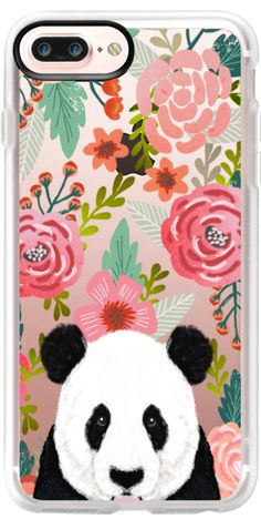 Casetify iPhone 7 Plus Case and other Panda iPhone Covers - Panda Cute Pet Portrait by Pet Friendly | Casetify
