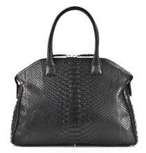 Italo - Python Bowling Bag - Black
