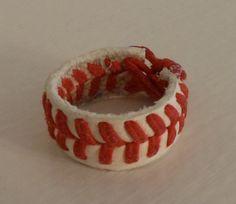 Real Handmade Baseball Ring