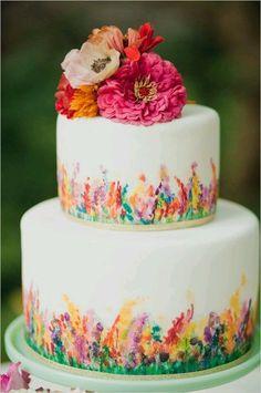 Свадебные торты в акварельной стилистике
