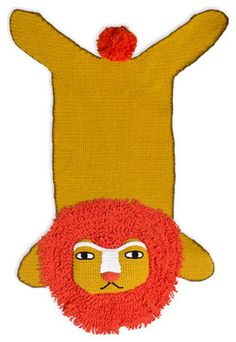 Junior Crocheted Lion Rug - contemporary - kids rugs - Jonathan Adler