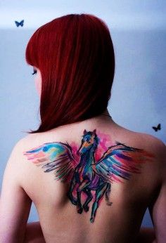 horse tattoos, back tattoos, tattoos pictures, girls tattoos