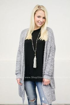 Oversize Fuzzy Knit Cardigan | Light Blue #fashion #women #cardigan #top #fall