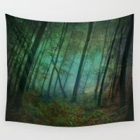 Calming Blue Winds Wall Tapestry