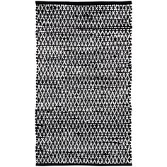 """Nourison Terrace 27"""" x 45"""" Accent Rug (€31) ❤ liked on Polyvore featuring home, rugs, black and white, black and white diamond pattern rug, nourison area rugs, diamond rug, black & white rugs and nourison"""