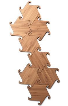 Zesch Interlocking Coasters by Michiel Cornelissen Ontwerp in home furnishings Category