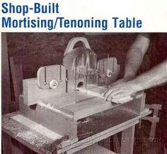 Mortise and Tenon Jig Plans - Joinery Tips, Jigs and Techniques | WoodArchivist.com