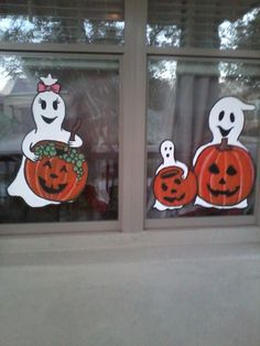 ghosts window painting