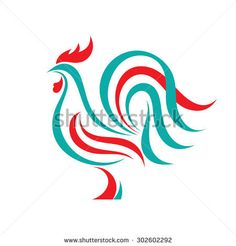 Rooster vector logo template concept. Bird cock abstract geometric illustration. Hen chicken food. Design element. Rooster Illustration, Abstract Illustration, Chicken Illustration, Rooster Vector, Rooster Logo, Hahn Tattoo, Rooster Tattoo, Chicken Logo, Chickens And Roosters