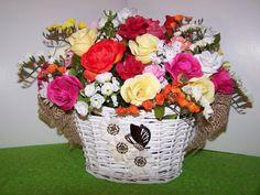 RESERVED NANCY KRUEGER Spring Floral Arrangement by TheSkrappery  Let me custom create for you too!