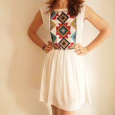 Image of Dress Etnico Blanco