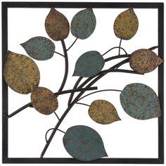Blue & Yellow Metal Leaf Wall Decor | Hobby Lobby | 1132935