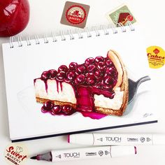 You searched for: Yusketch! Discover the unique items that Yusketch creates. At Мои рисунки Sweet Drawings, Cute Food Drawings, Cool Art Drawings, Colorful Drawings, Copic Marker Art, Copic Art, Colored Pencil Artwork, Color Pencil Art, Cake Drawing