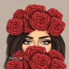 """3,181 Likes, 278 Comments - Sara Ahmed (@sarra_art) on Instagram: """"من آداب الإستماع للأنثى: أن تُنصت لعينيها أولاً ______ اسحبو الرسمه وقولولي رأيكم """""""