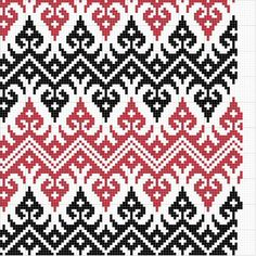 Charted Patterns from Medieval Egypt - Cross Stitch, Long-Armed Cross Stitch, Counted Herringbone Cross Stitch Pillow, Cross Stitch Bird, Cross Stitch Designs, Cross Stitch Embroidery, Cross Stitch Patterns, Tapestry Crochet Patterns, Crochet Stitches Patterns, Mosaic Patterns, Knitting Patterns